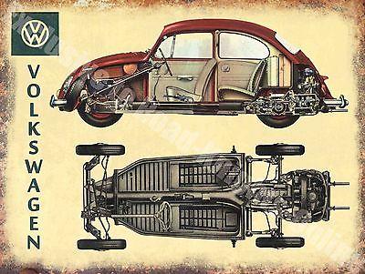 VW Käfer Blechschild Nostalgie Werbung