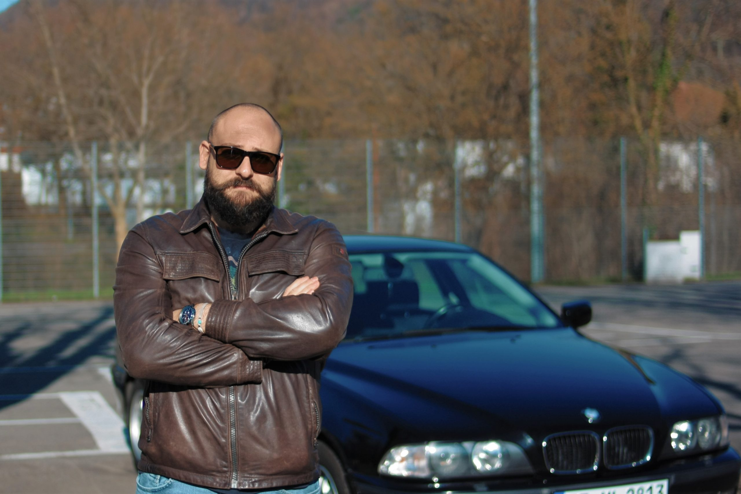 Moschos Moschokarfis mit seinem BMW E39 Youngtimer
