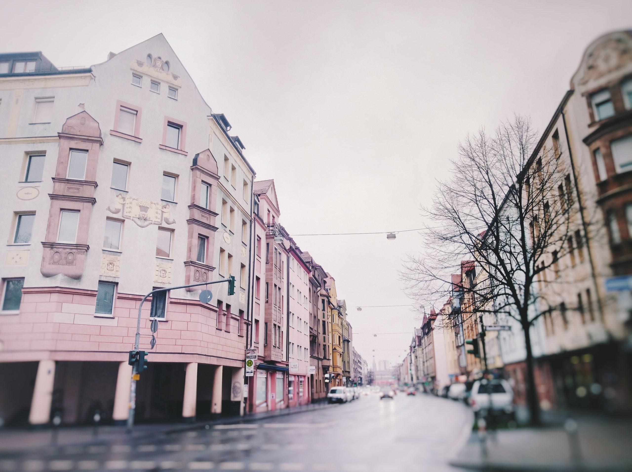 leere Straßen während des Coronavirus